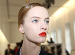Backstage at Jil Sander/WWD.com