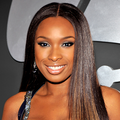 Jennifer Hudson rocks the same platinum shimmer.