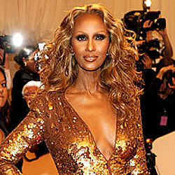Golden Goddess Iman, a timeless beauty...