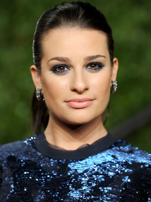 Lea Michele Brings the Color to Smoky Eyes