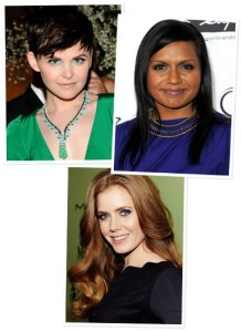 Shades of Blue: Ginnifer Goodwin, Mindy Kaling, and Amy Adams