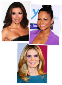 Eva Longoria, Christina Milian, and Heidi Klum all picked purple
