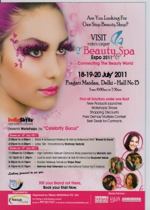 Beauty & Spa Expo in Pragati Maidan, New Delhi, July 18th, 19th, 20th