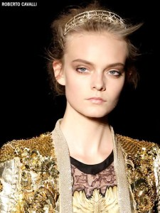 Beautifully bronze at Robert Cavalli