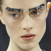 Jeweled brows at Chanel: Let's hope this doesn't catch on!