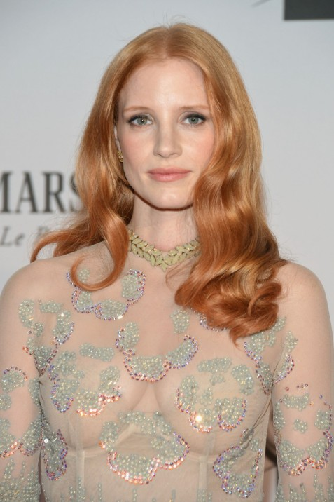 A closer look at Jessica Chastain's...makeup