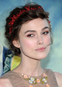 Keira Knightley's makeup at the film premiere was by Chanel makeup artist Katie Lee
