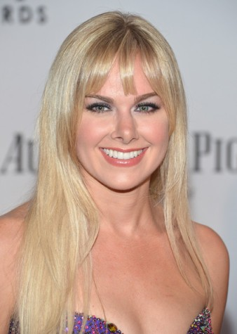 Laura Bell Bundy's makeup makes up for the gown...
