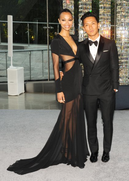 Zoe Saldana and Prabal Gurung at the CFDA Fashion Awards