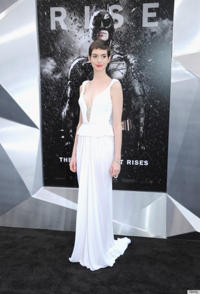 "Anne Hathaway at ""The Dark Knight Rises"" New York Premiere"