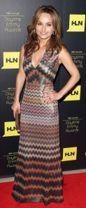 "Giada De Laurentiis makes the Daytime Emmys ""Best Dressed"" lists for this metallic Missoni"