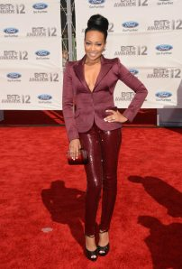 Monica on the BET Awards red carpet