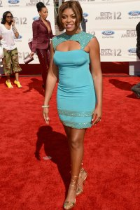 Taraji P. Henson on the BET Awards red carpet