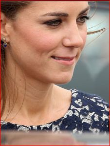 Kate's makeup wearing the Erdem frock