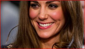 Kate's makeup wearing the Alice by Temperley gown